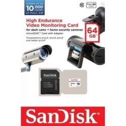 Karta pamięci MicroSDXC SanDisk 64GB Class 10 + adapter / for monitoring