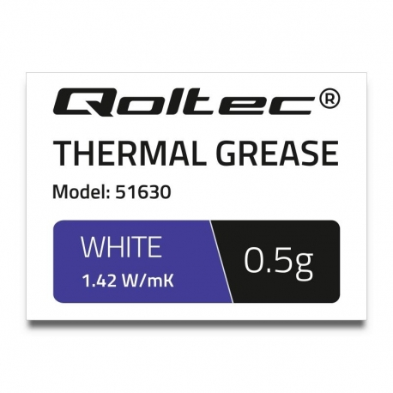 Pasta termoprzewodząca Qoltec 1.42 W/m-K   0.5g   Biała