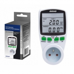 Watomierz dwutaryfowy ORNO OR-WAT-408 kalkulator energii