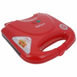 Opiekacz do kanapek / sandwich Saturn ST-EC1082 czerwony