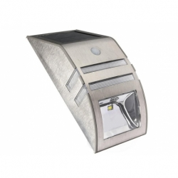 Kinkiet solarny z czujnikiem ruchu Maclean MCE118 S inox