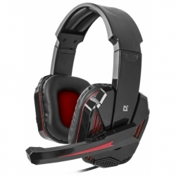Słuchawki z mikrofonem Defender WARHEAD G-260 Gaming czerwono-czarne